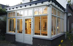 House Extensions, Window Frames, Cafe Restaurant, Patio Design, Conservatory, Sunroom, Future House, Pergola, Shed