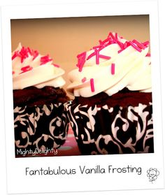 The BEST vanilla Butter Cream frosting you will EVER eat...seriously :) Recipe :)
