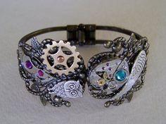 Steampunk jewelry cuff bracelet