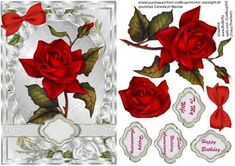 Lovely Red Rose on a Silver Frame - CUP401012_1398 | Craftsuprint