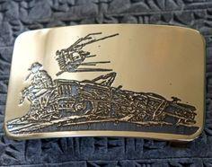 Post Apocalyptic brass belt buckle