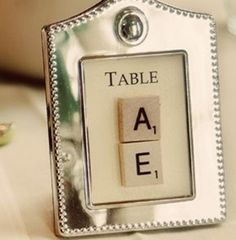 Scrabble table numbers and other tile ideas Trendy Wedding, Diy Wedding, Dream Wedding, Wedding Ideas, Wedding Album, Wedding Stuff, Wedding Flowers, Wedding Themes, Party Themes