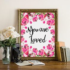 Nursery decor art  You are loved print wall by FancyPrintsBoutique