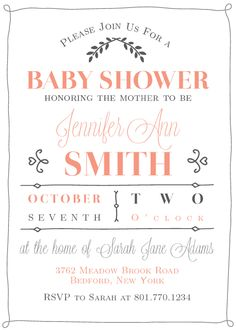 Poster Baby Shower Invitation by Basic Invite