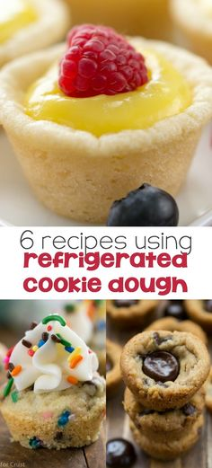 6 Recipes Using Refrigerated Cookie Dough - make an easy semi-homeade dessert in minutes and no one will know!