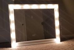 hollywood mirror diy – My Pet Friendly Home Hollywood Lights, Vanity Mirror, Mirror Frame Diy, Diy Lighting, Ikea Mirror Lights, Diy Vanity Mirror, Diy Mirror With Lights, Diy Mirror