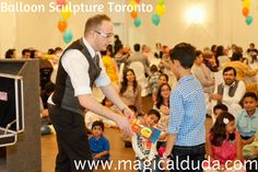 Are you looking for Balloon Sculpture in Toronto? We offer magic show and our Professional Magician entertains you with Balloons. Click here for more info. http://www.magicalduda.com/