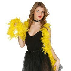 Boa Amarilla Económica #boasdisfraz #accesoriosdisfraz #accesoriosphotocall