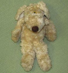 "Vintage LE MUTT Francesca Hoerlein 1980 Plush Dog 18"" Tan Stuffed Puppy Animal  #FranlandInc"