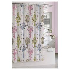 Kassatex Bambini Merry Meadow Shower Curtain - Multi-Colored