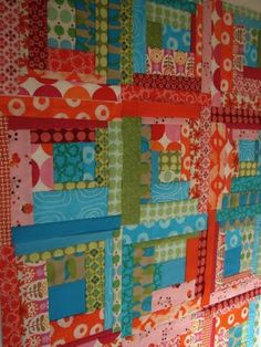 cute quilt colors and a couple of Christmas tree skirts