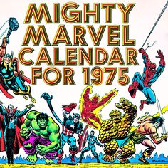 1975 Marvel Calendar Cover
