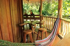 tree house lodge beach house patio   - Costa Rica
