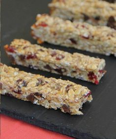 We could eat these all day long.  Far better than store-bought granola bars!