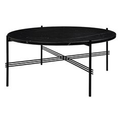 If you're a fan of the all black interior then you'll love this table. Here is the iconic Gubi TS dining table in luxurious black marble.