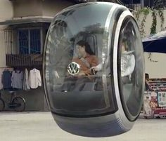 A real floating VW car! Check out the video it shows the car driving around town and the cool braking features.
