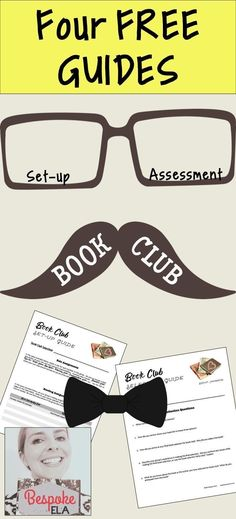 In this FREEBIE by Bespoke ELA, you will find FOUR FREE guides to use for implementing and assessing book club in Secondary English Language Arts.  The guides help students to get organized, reflect, and assess their book club experiences.  Great for midd