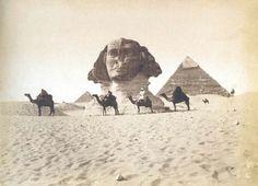 The Sphinx, Giza, Egypt, circa 1849.