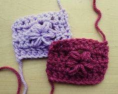 Finished sample pieces – puff stitch flower video tutorial on makemydaycreative.com