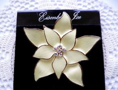 EISENBERG ICE Enamel Retired Poinsettia Brooch Pin by JoolsForYou SOLD OUT Thank You!
