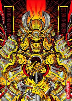 excellent image of samurai Ninja Kunst, Arte Ninja, Ninja Art, Arte Robot, Samurai Wallpaper, Japanese Art Modern, Samurai Artwork, Arte Tribal, Japon Illustration