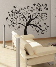 My fave so far! But in brown...Maple Tree  Wall Decal Vinyl Decor Art Sticker by UberDecals, $74.99