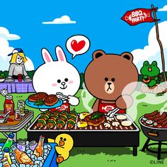 BROWN PIC is where you can find all the character GIFs, pics and free wallpapers of LINE friends. Come and meet Brown, Cony, Choco, Sally and other friends! Cute Love Gif, Cute Love Pictures, Cony Brown, Brown Bear, Rilakkuma Wallpaper, New Toy Story, Cute Bear Drawings, Grillin And Chillin, Kakao Friends