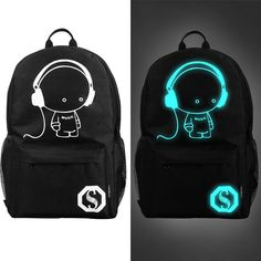 gt  gt  gt Smart Deals forFashion Luminous Backpack For Teenage Girls  Music Boy dc4c7dfe2e