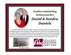 Testimonial for David & Sondra Daniels