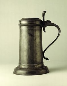 Pewter flagon: century by . Museum quality art prints with a selection of frame and size options, and canvases. Pewter Tankard, London Museums, Antique Pewter, Watering Can, Writing Inspiration, 17th Century, Cookware, Medieval, Mary