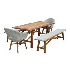 Kariah 5-Piece Outdoor Dining Set, Benches by Nova Caeli   Zanui