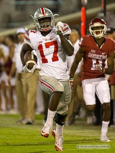 Jerome Baker's pick six at Oklahoma - Jim Davidson, Ozone photo