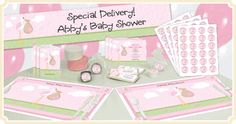 Stork - It's A Girl - Baby Shower Theme