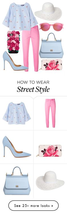 """Street Style"" by girlygorgeousness on Polyvore featuring Kate Spade, Dondup, Violeta by Mango, Dolce&Gabbana, Dorothy Perkins, Gianvito Rossi and StreetStyle"