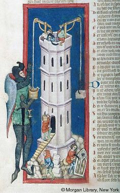 Tower of Babel | Weltchronik |  Germany, Regensburg | ca. 1360 | The Morgan Library & Museum