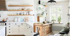 Cocinas blancas y con todo a la vista