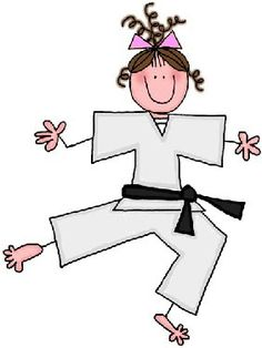 Karate Tae Kwon Do Martial Arts Birthday Party Invitations Girl Karate Picture, Karate Boy, Judo Karate, Drawing Lessons For Kids, Stick Figures, Cute Dolls, Fabric Painting, Birthday Party Invitations, Diy Art