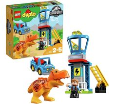 LEGO DUPLO products are specially designed to be fun and easy for little hands. Jurassic World T. Features a car and a Jurassic World lookout tower. Play out exciting role-play stories based on the Jurassic World movie. Jurassic World T Rex, Train Lego Duplo, Dinosaurs For Toddlers, Legos, Best Lego Sets, Kids Blocks, Popular Kids Toys, Buy Lego, Dinosaur Toys