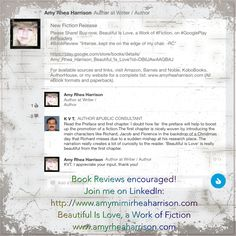 Reviews are appreciated! #bookreview Beautiful Is Love #fiction www.amyrheaharrison.com