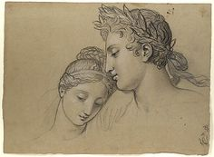 Study of Heads for Study for 'Castor and Pollux Freeing Helen' Joseph-Ferdinand Lancrenon (French, 1794–1874)