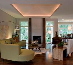 deckenbeleuchtung abgehängte decke schlafzimmer braun | wohnzimmer ... - Led Deckenbeleuchtung Wohnzimmer