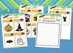 Maths Halloween, Pixel Art Halloween, Halloween Boo, Happy Halloween, Art Plastique Halloween, Pix Art, Ecole Art, Make Up Art, History Teachers
