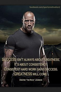 Success isn't always about greatness; it's about consistency. Consistent hard work gains success. Greatness will come.