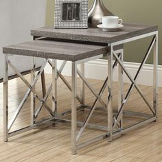 For Sitting Area - $175  House of Hampton Oliver 2 Piece Nesting Table Set & Reviews   Wayfair