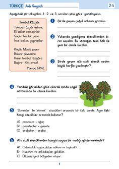 3. Sınıf Etkinlik Çöz Pekiştir Tüm Dersler Turkish Language, Worksheets, Education, Words, School, Exercise, Literacy Centers, Onderwijs, Learning