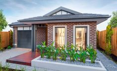 Simonds Homes: Isis - Mossman Facade. Visit www.allmelbournebuilders.com.au for all display homes and building options in Victoria