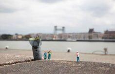 """""""Little People"""", street art by Slinkachu"""