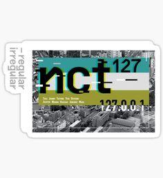 Pegatina NCT 127 regular-irregular fondo NEGRO Pop Stickers, Tumblr Stickers, Printable Stickers, Nct 127, Korean Stickers, Kpop Diy, Memo Notepad, Ticket Design, Good Notes