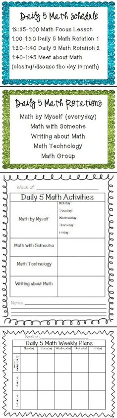 This teacher explains how she uses Daily 5 Math in her classroom.