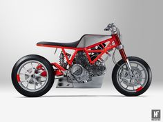 Ducati's Scrambler has been around for a while now and there have been a fair few custom builders who've had a go at showing us what Bologna's designers couldhave penned. Holographic Hammer's carbon wheeled, quad front disc café racer proved that they're just as good at building bikes as they are at colouring-in. Marcus Walz …